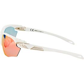 Alpina Twist Five HR QVM+ Glasses white matt-silver/rainbow mirror